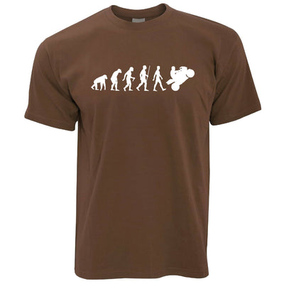 Evolution of a Biker Motorcyclist T-shirt in Brown
