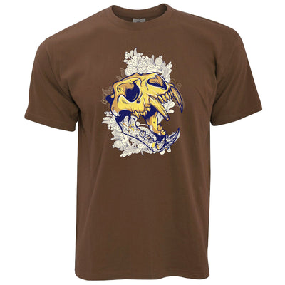 Ice Age Art T Shirt Sabertooth Tiger Skull Graphic