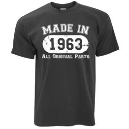 Made in 1963 All Original Parts Mens T-Shirt [Distressed]