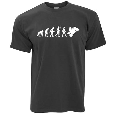 Evolution of a Biker Motorcyclist T-shirt in Dark Grey