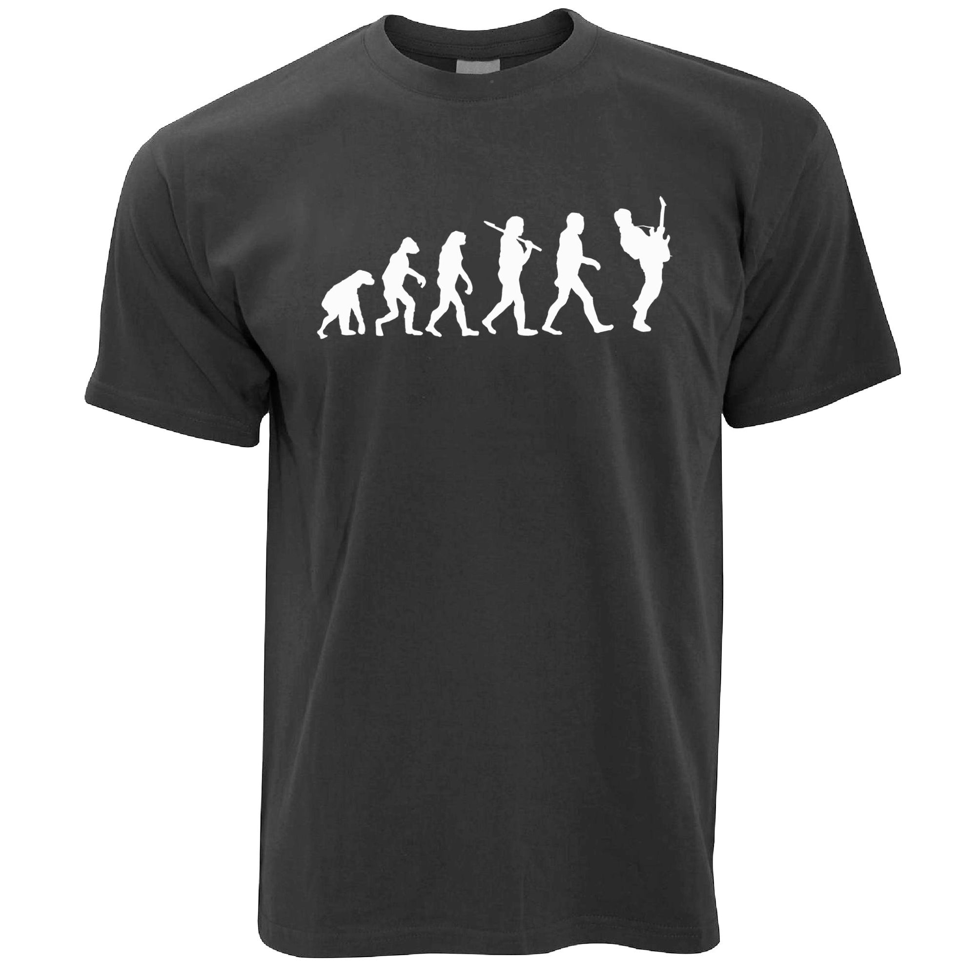 Mens Musician T Shirt Evolution Of A Guitarist Tee