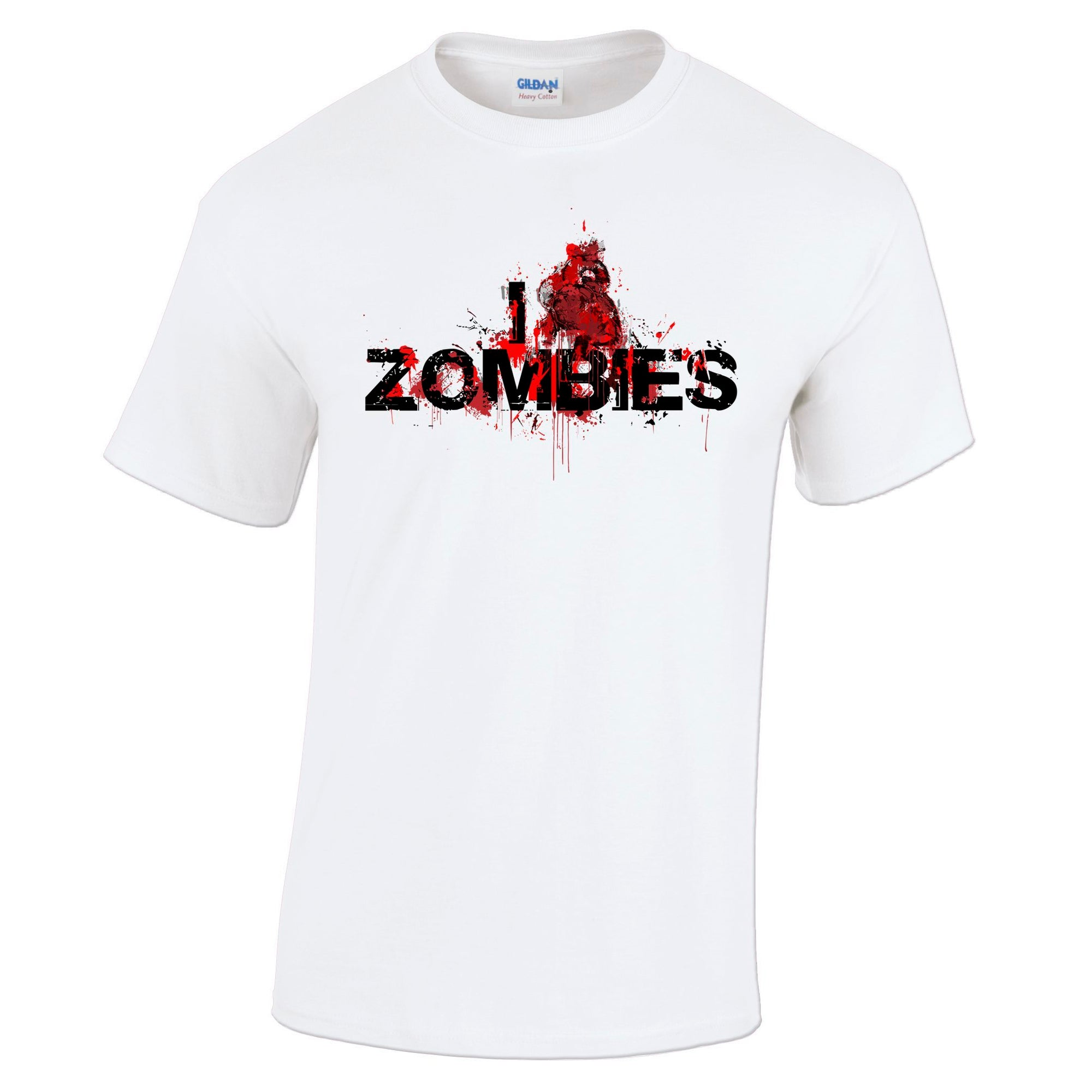 Mens Halloween T Shirt I Love Zombies Slogan Tee