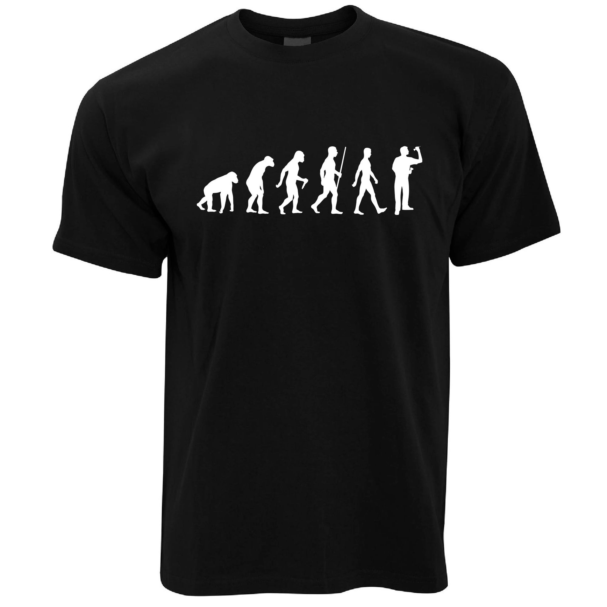 Mens Darts T Shirt Evolution of a Darts Player Tee