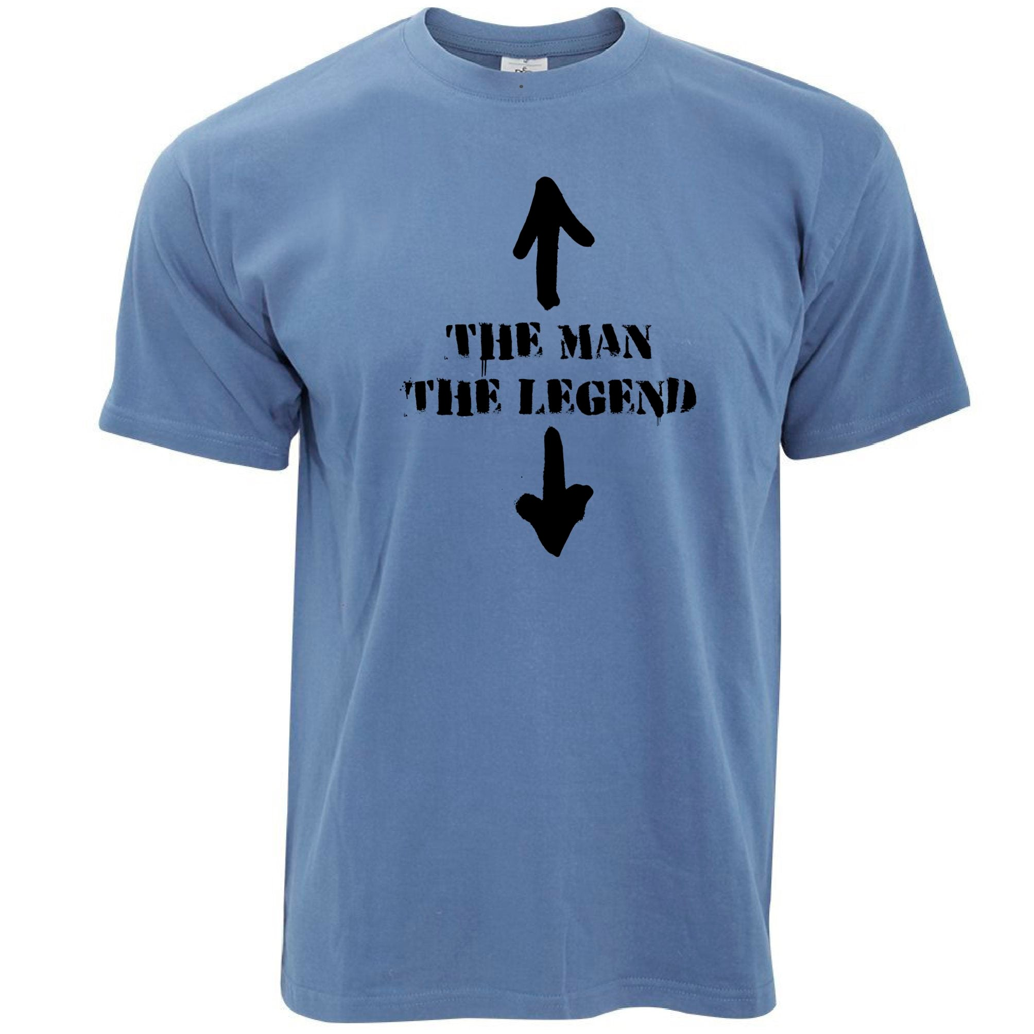 Mens Cool T Shirt The Man, The Legend Novelty Funny Slogan Tee