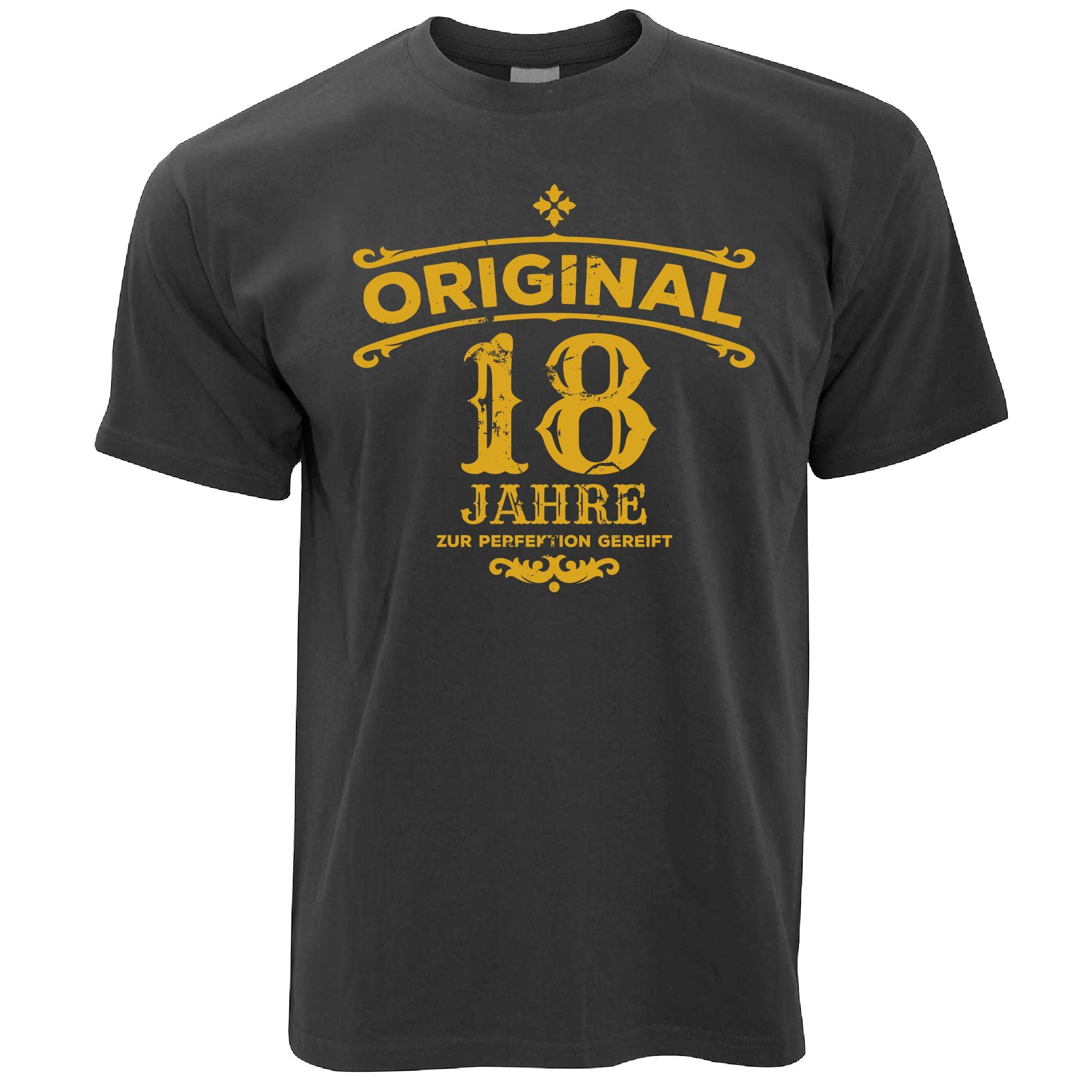 Mens 18th Birthday T Shirt Original Aged 18 Eighteen Years Tee