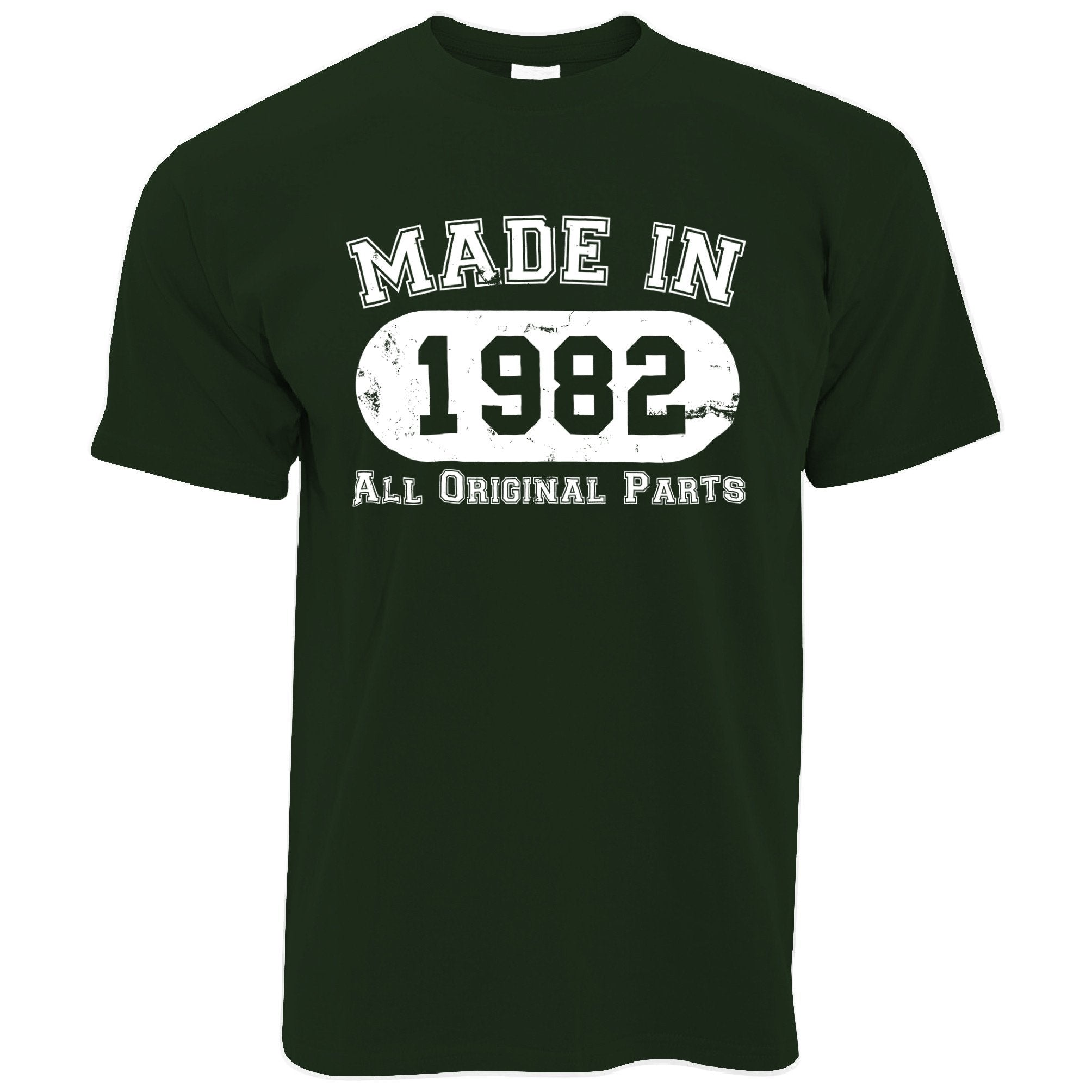 Made in 1982 All Original Parts Mens T-Shirt [Distressed]