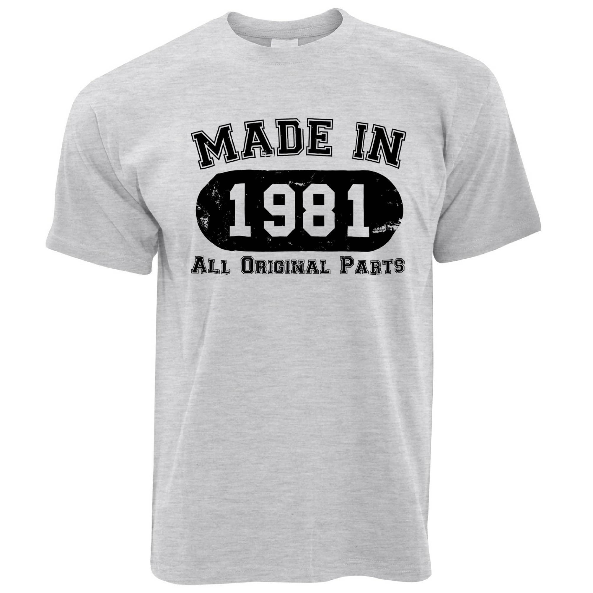 Made in 1981 All Original Parts Mens T-Shirt [Distressed]