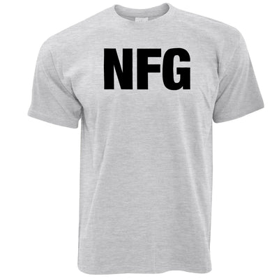 Rude Adult Slogan T Shirt NFG No F*cks Given