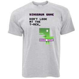 Funny T Shirt Don't Look At The T-Rex Game Joke