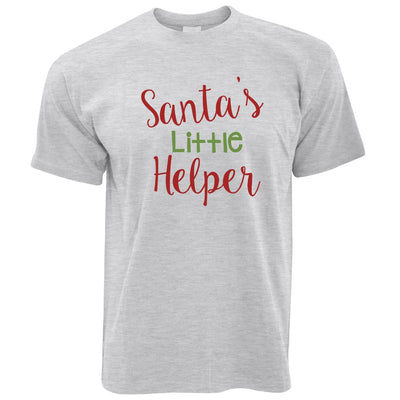 Christmas T Shirt Santa's Little Helper Slogan