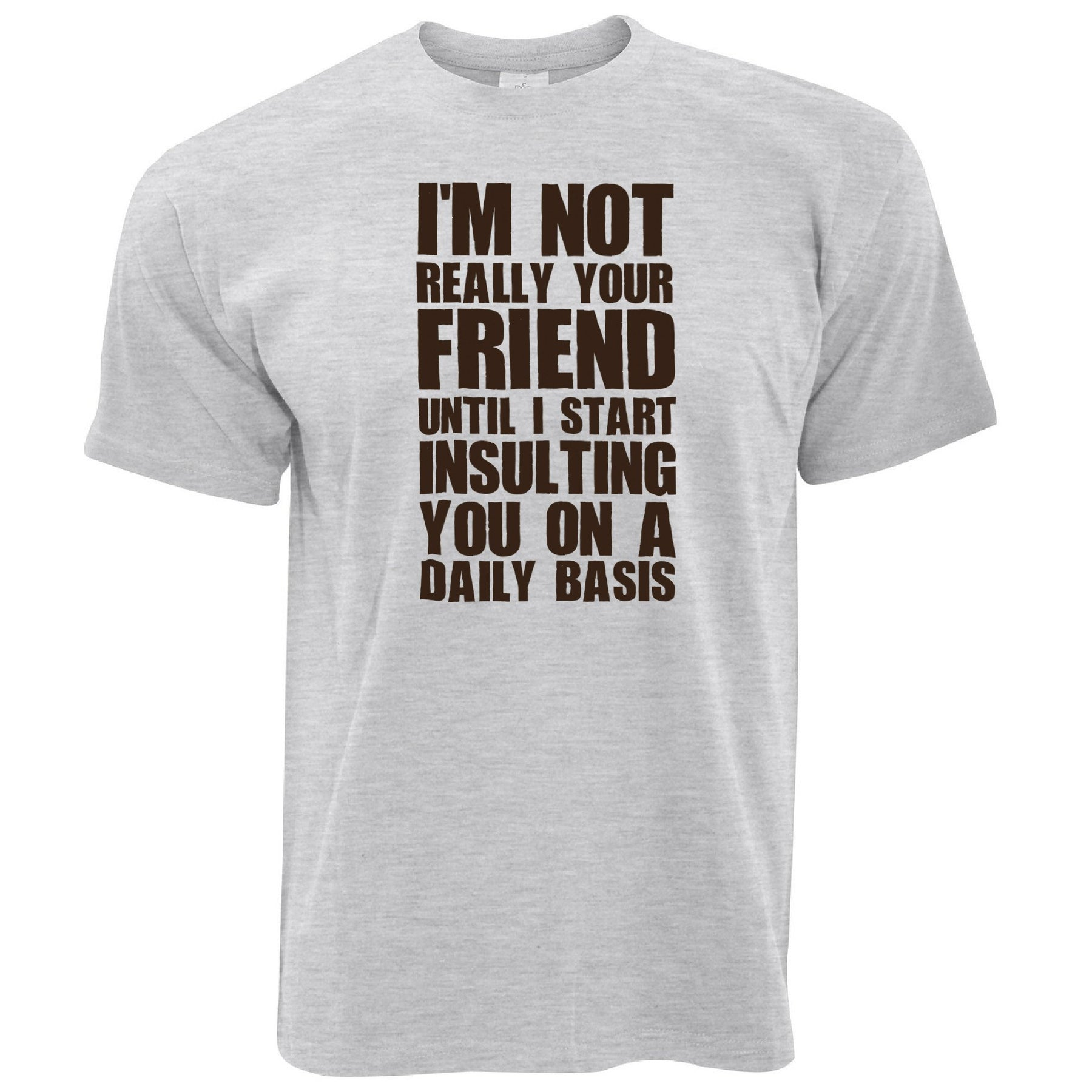 cc16949f Funny T Shirt I'm Not Your Friend Until I Insult You