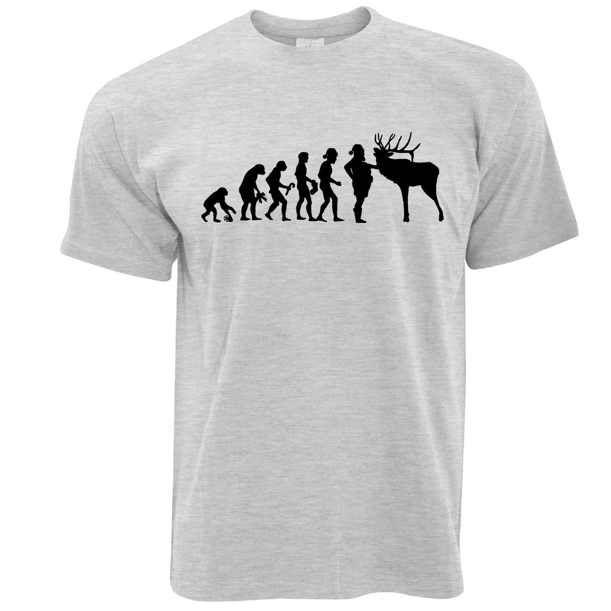 Novelty Christmas T Shirt Evolution Of Xmas Holiday