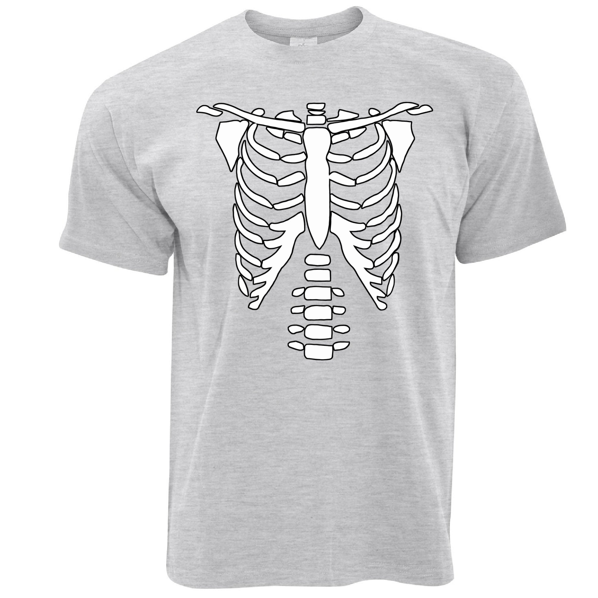 Halloween T Shirt Skeleton Ribcage Chest