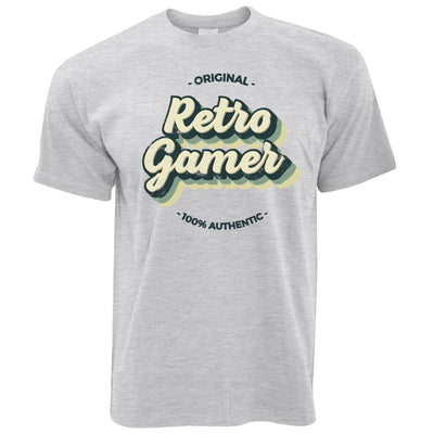 Novelty T Shirt Original Retro Gamer, 100% Authentic