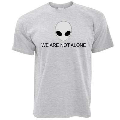 Nerdy Alien Head T Shirt We Are Not Alone Slogan