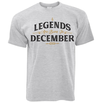 Birthday T Shirt Legends Are Born In December