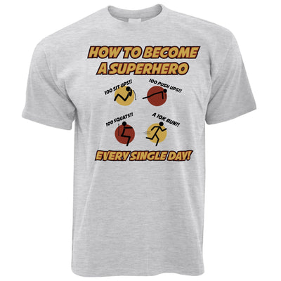 Novelty Anime Parody T Shirt How To Become A Superhero