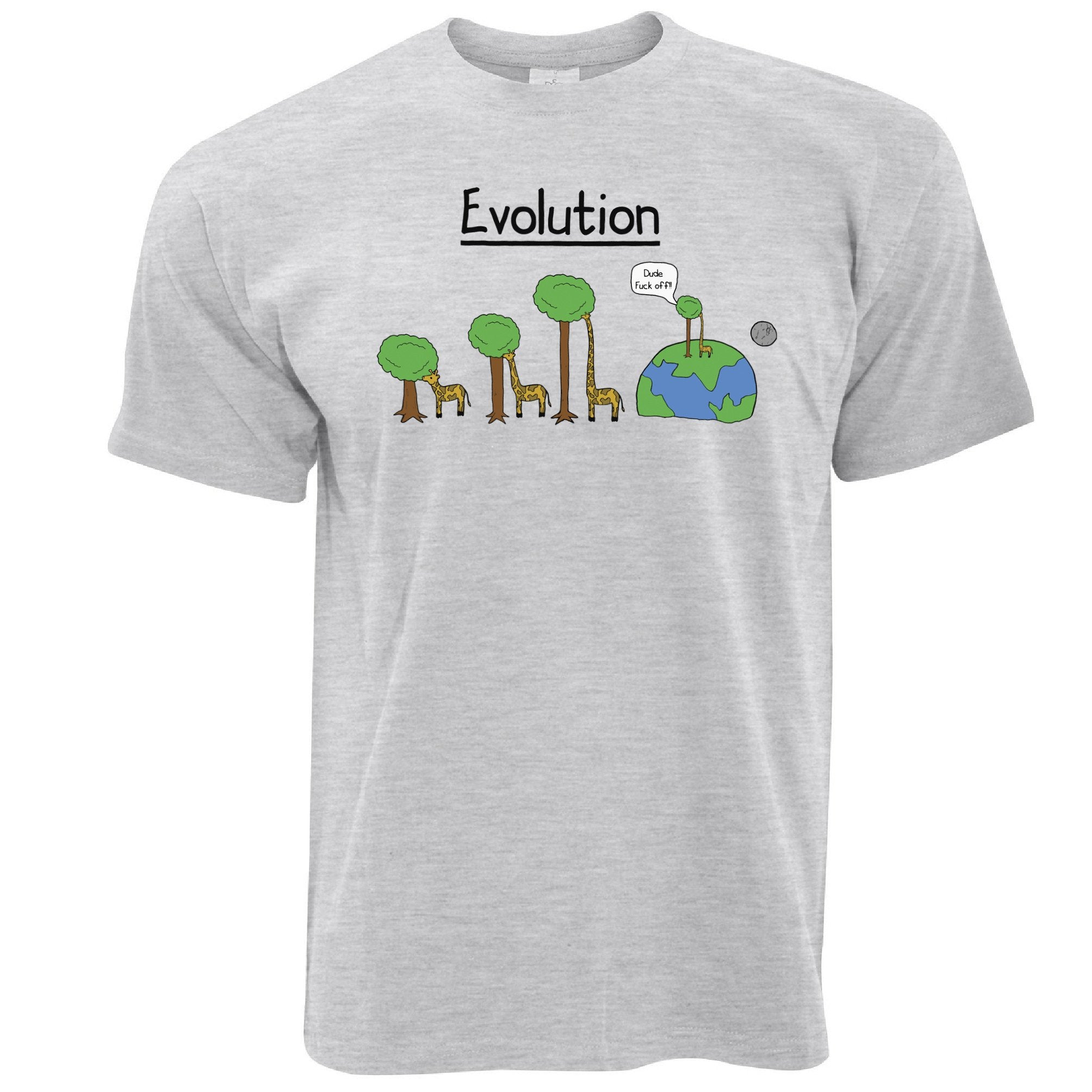 Novelty T Shirt Evolution Of A Giraffe And Tree