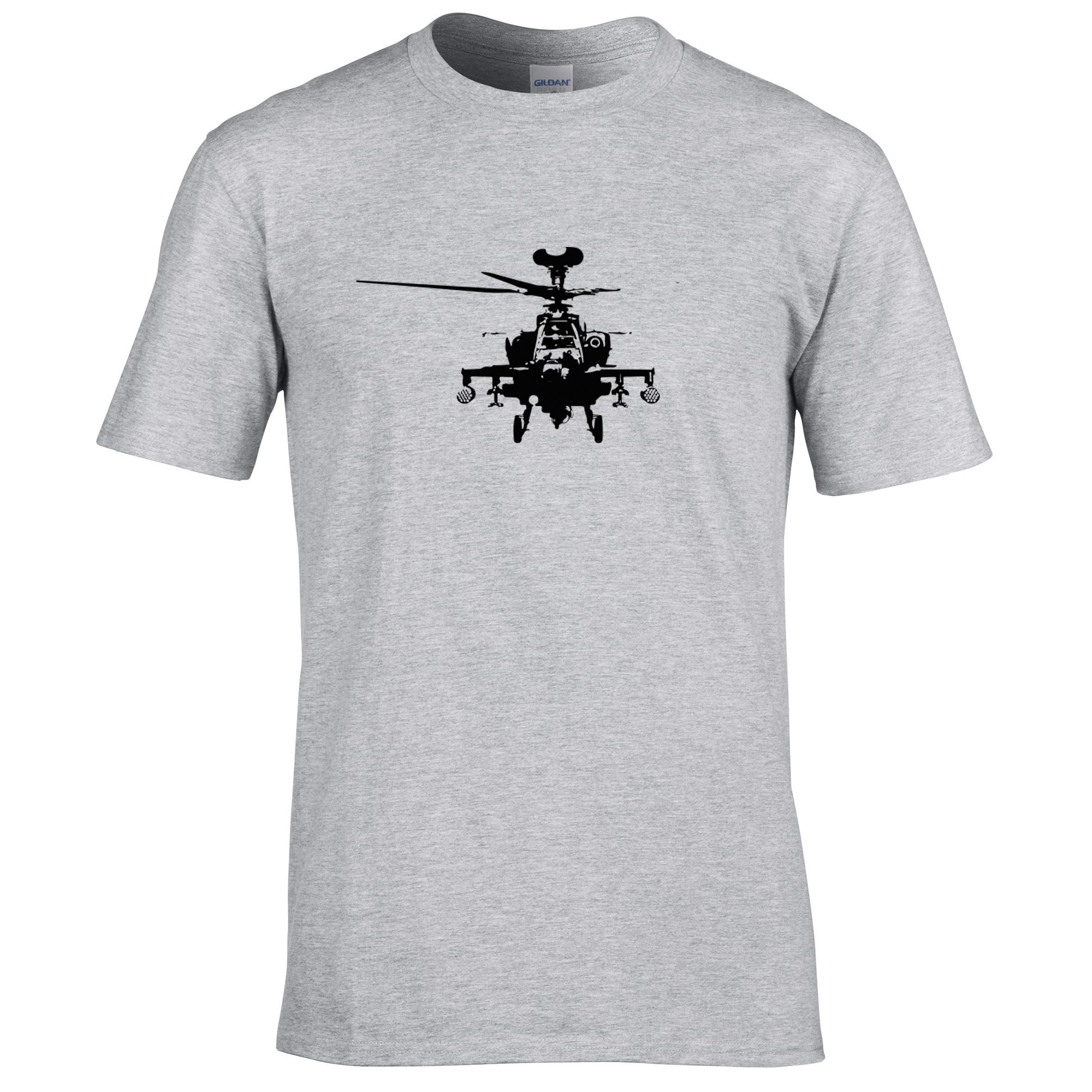 Military T Shirt Apache Attack Helicopter AH64