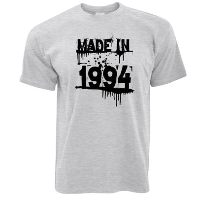 Birthday T Shirt Made In 1994 Graffiti