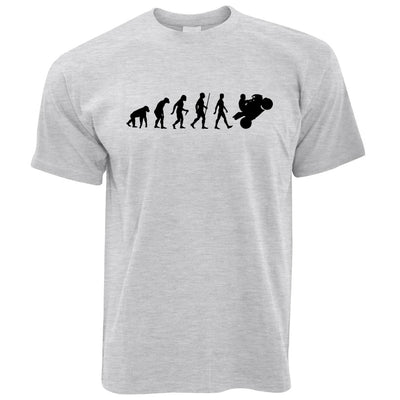 Evolution of a Biker Motorcyclist T-shirt in Grey