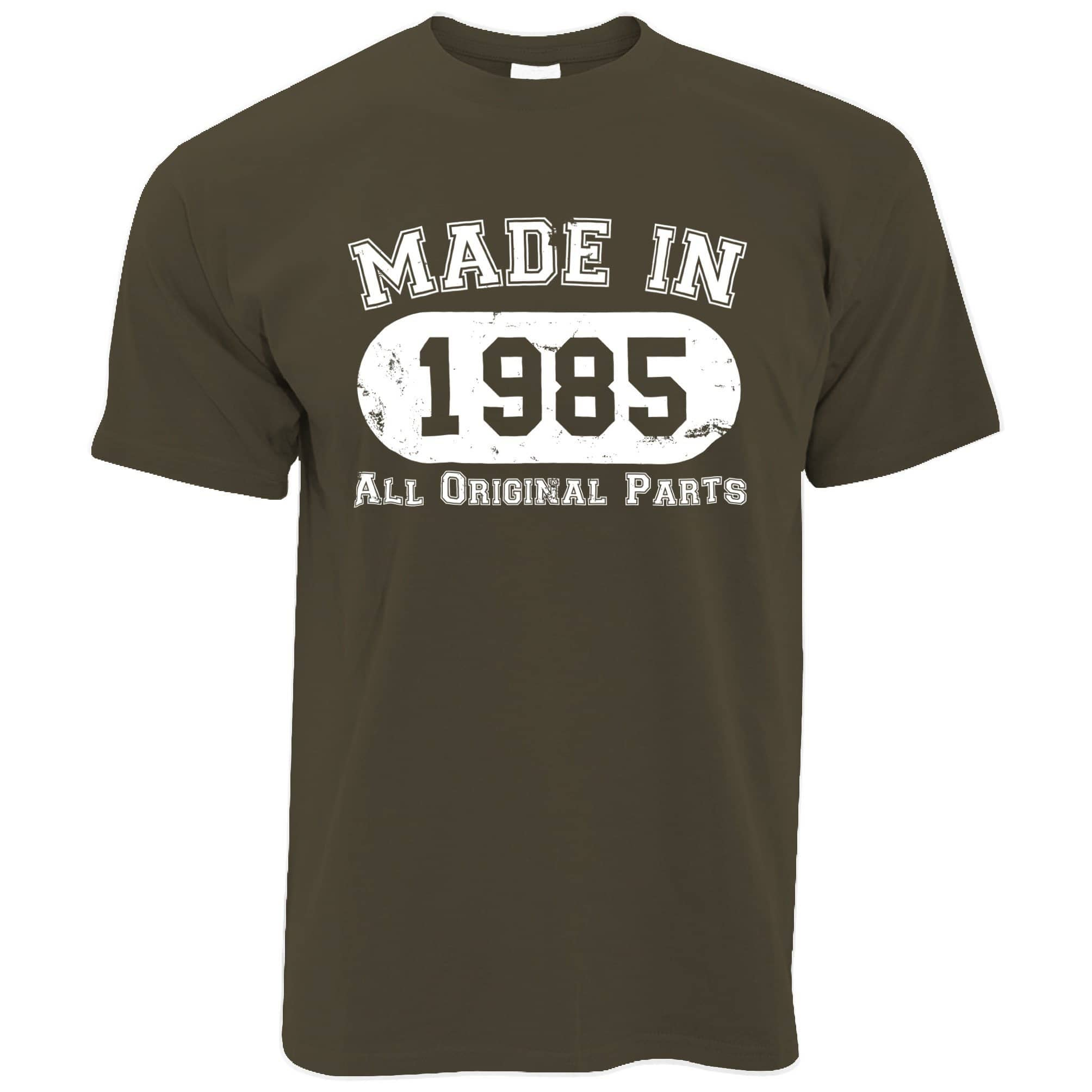 Made in 1985 All Original Parts Mens T-Shirt [Distressed]