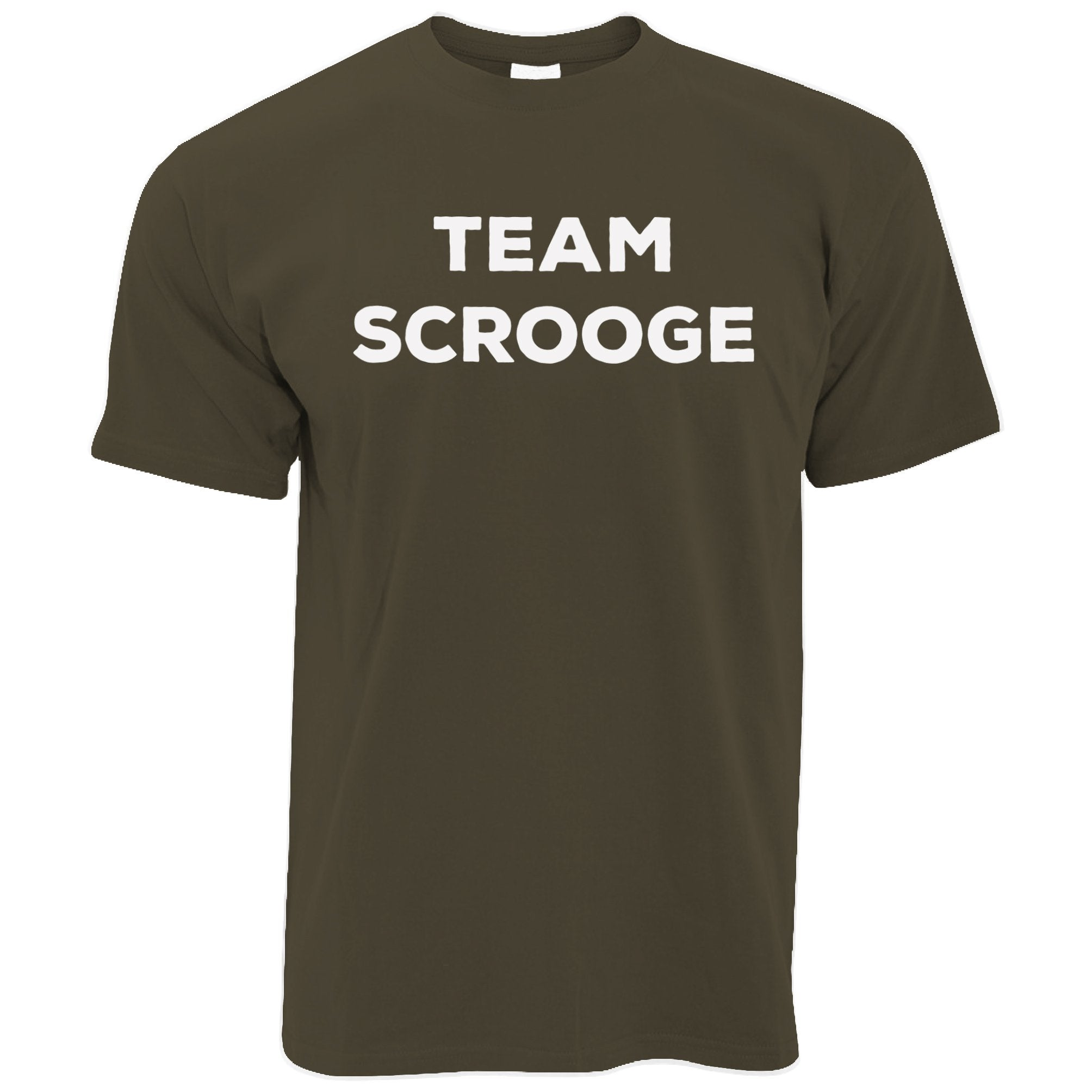 Novelty Anti-Christmas T Shirt Team Scrooge Slogan