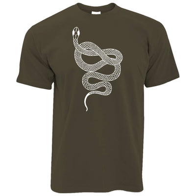 Animal Art T Shirt Illustrated Snake Tattoo Graphic