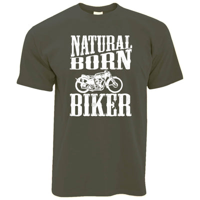 Biker T Shirt Natural Born Biker Slogan