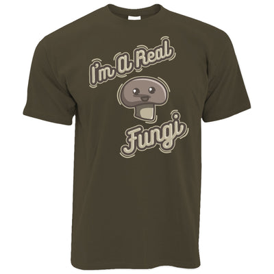 Novelty Vegan T Shirt I'm A Real Fun Guy Fungi Pun