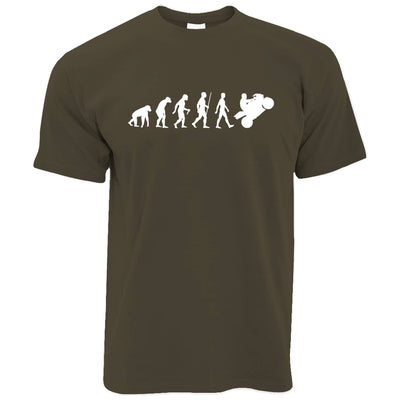 Biker T Shirt Evolution of a Motorbike Rider