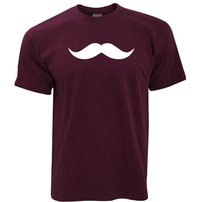 Trendy T Shirt Simple Moustache Shape