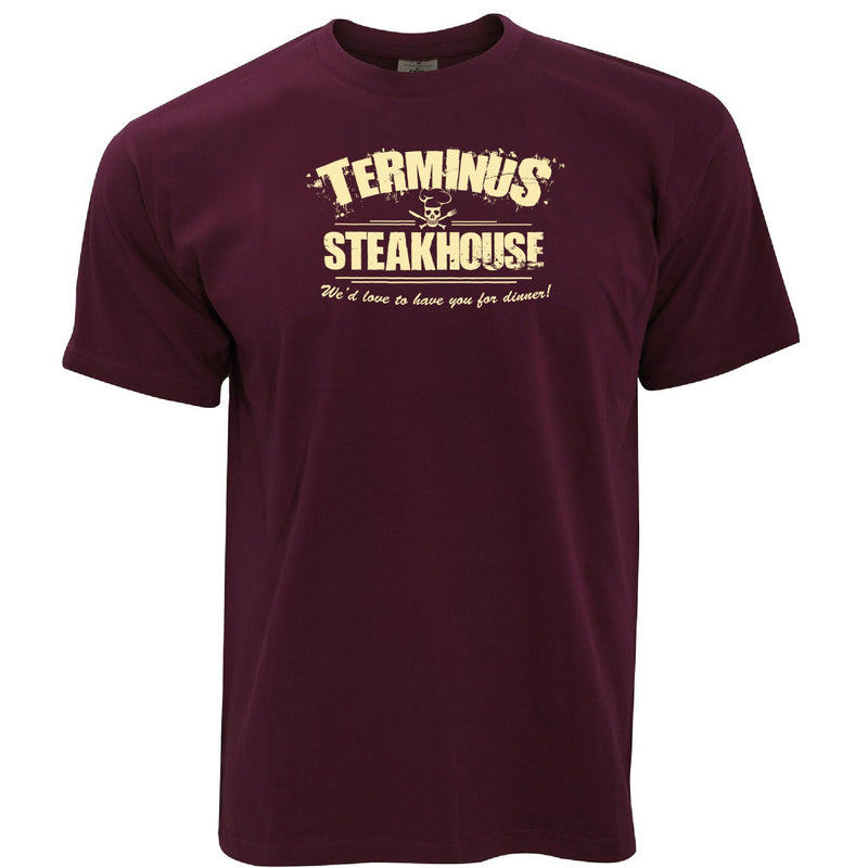 Zombie T Shirt Terminus Steakhouse Restaurant Logo