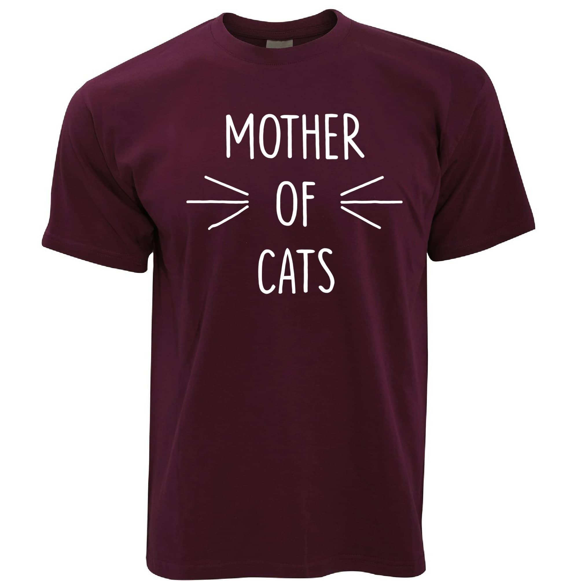 Novelty Pet T Shirt Mother Of Cats Slogan