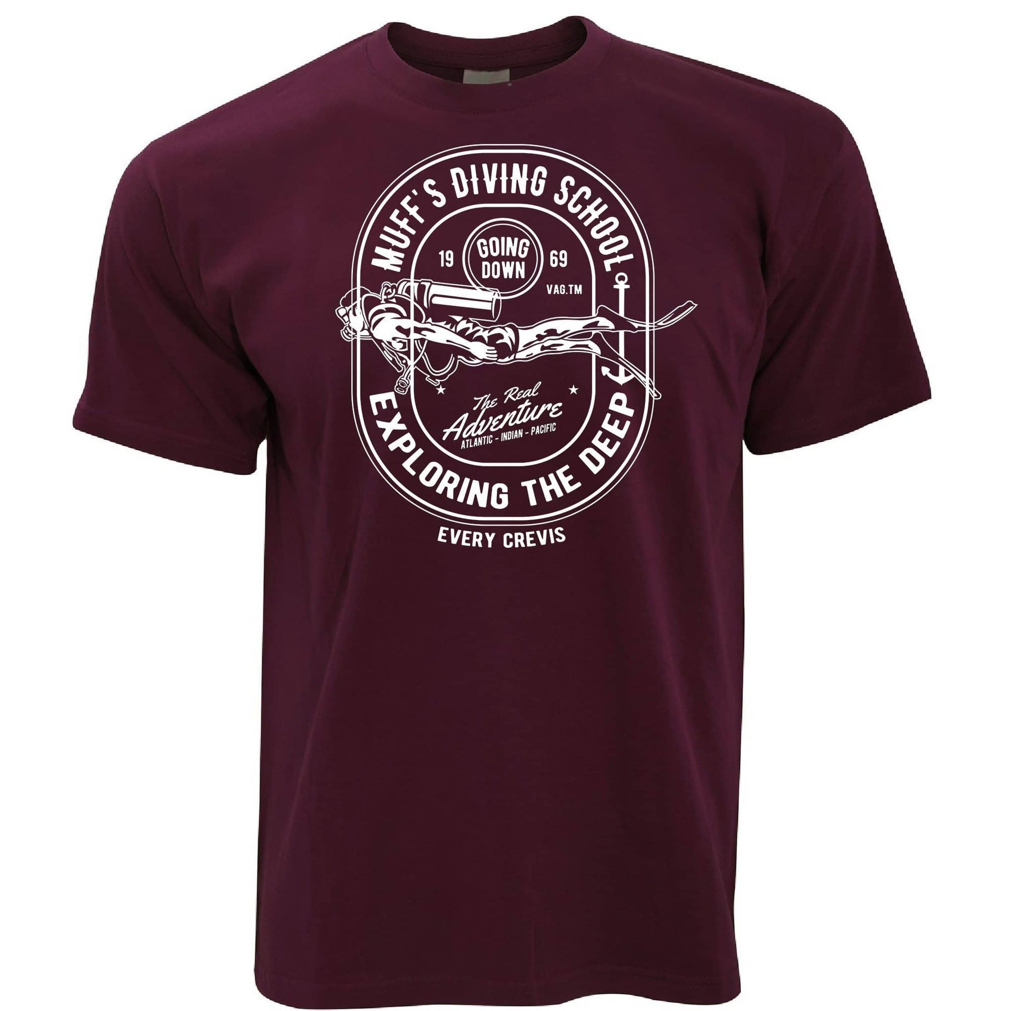 Diving School T Shirt The Real Adventure Logo
