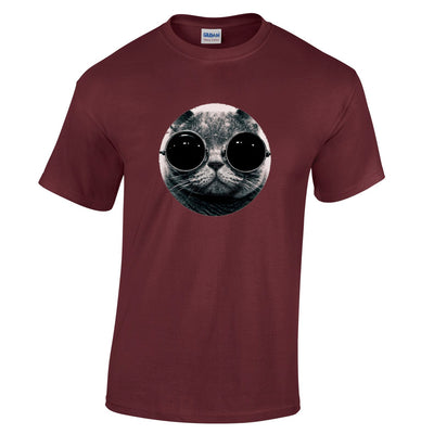 Mens Cool Cat with Sunglasses Hipster T Shirt Tee