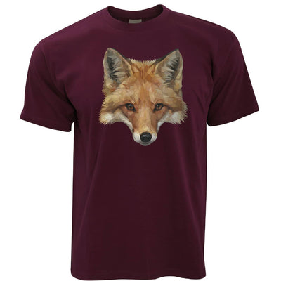 Animal Art T Shirt Low Poly Fox Graphic