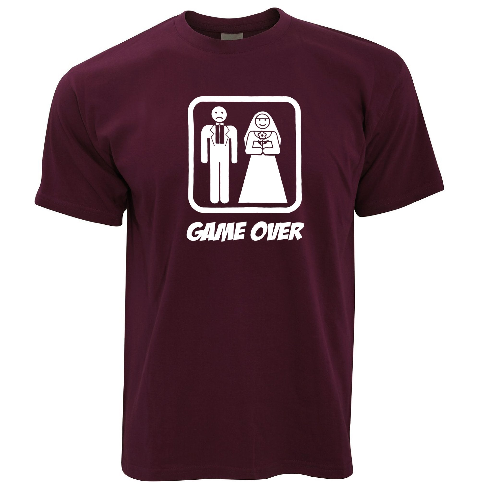 Game Over Novelty T Shirt Wedding Stag Do Hen Night