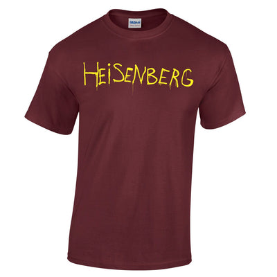 Mens Heisenberg On The Run T Shirt Spray Paint Tee