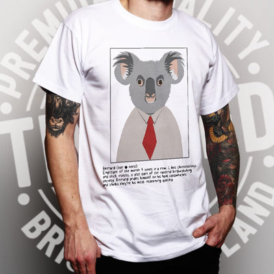 Novelty Animal T Shirt Bernard the Koala Caption