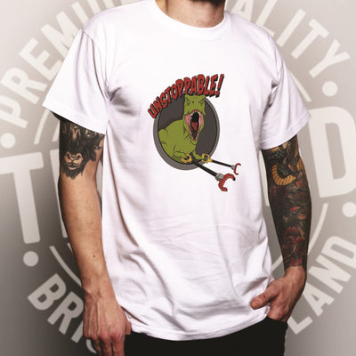 Novelty T Shirt Unstoppable T-Rex With Grabber Hands