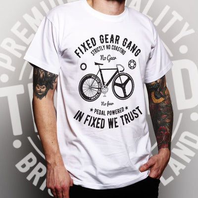 Cycling T Shirt Fixed Gear Gang Cyclist Biker