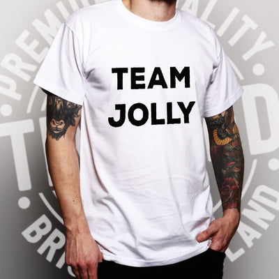 Novelty Christmas T Shirt Team Jolly Slogan