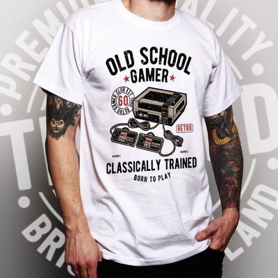 Gaming T Shirt Old School Gamer Retro Videogame Arcade