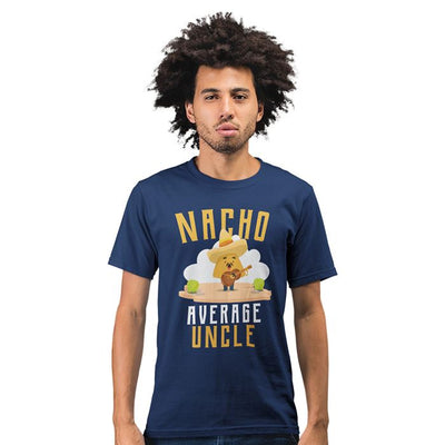 Mens Nacho Average Uncle Funny T Shirt Tee