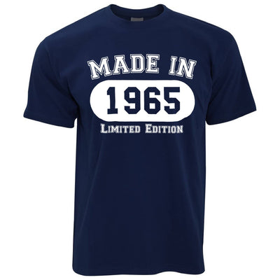 Birthday T Shirt Made in 1965 Limited Edition