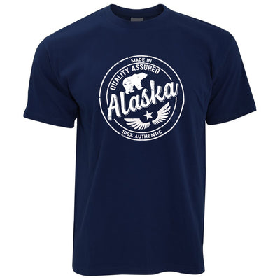 Hometown Pride T Shirt Made in Alaska Stamp