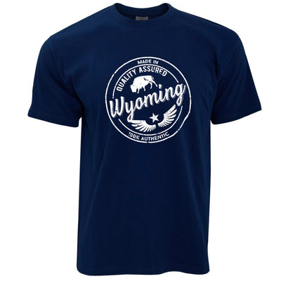Hometown Pride T Shirt Made in Wyoming Stamp