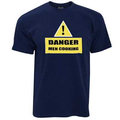 Novelty Barbecue T Shirt Danger! Men Cooking Sign