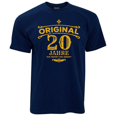 Mens 20th Birthday T Shirt Original Aged 20 Twenty Years Tee